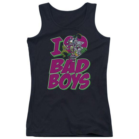 Dc I Heart Bad Boys - Juniors Tank Top - Black