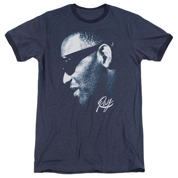 Ray Charles Blue Ray Adult Heather Ringer Navy