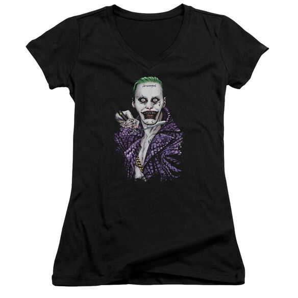 Suicide Squad Blade Junior V Neck T-Shirt