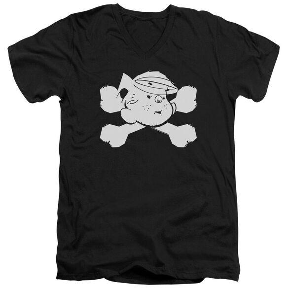 Dennis The Menace Bad To The Bone Short Sleeve Adult V Neck T-Shirt