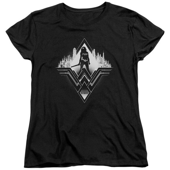 Batman V Superman City Warrior Short Sleeve Womens Tee T-Shirt