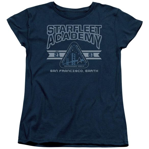 Star Trek Starfleet Academy Earth Short Sleeve Womens Tee T-Shirt