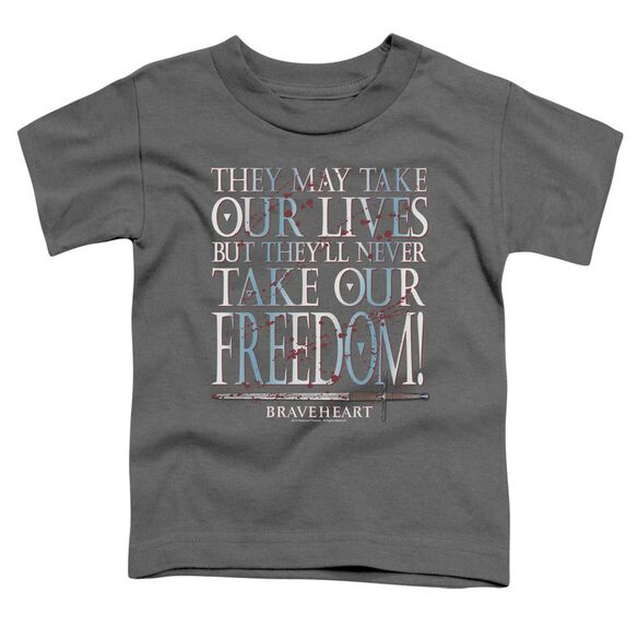 Braveheart Freedom Short Sleeve Toddler Tee Charcoal Sm T-Shirt
