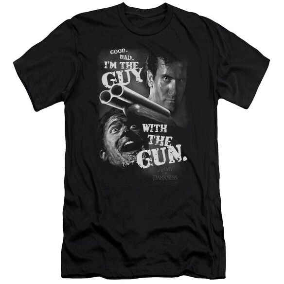 Army Of Darkness Guy With The Gun Premuim Canvas Adult Slim Fit