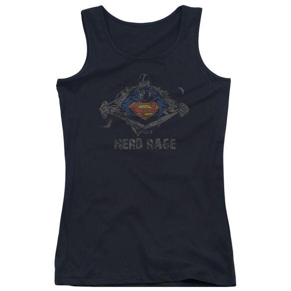 Superman Nerd Rage Juniors Tank Top