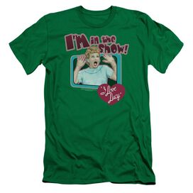 I LOVE LUCY PUT ME IN THE SHOW - S/S ADULT 30/1 - KELLY GREEN T-Shirt