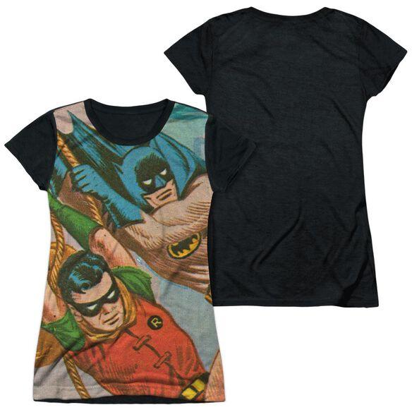 Batman Classic Tv Nightly Patrol Short Sleeve Junior Poly Black Back T-Shirt