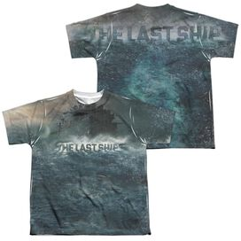 Last Ship Out To Sea 2 (Front Back Print) Short Sleeve Youth Poly Crew T-Shirt