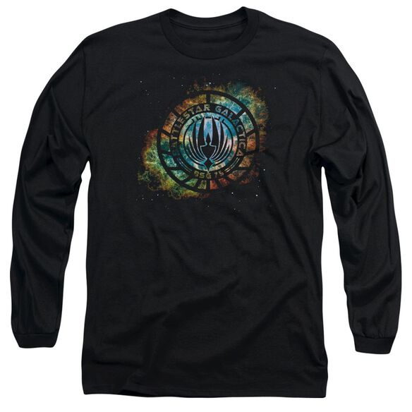 Battlestar Galactica (New) Emblem Knock Out Long Sleeve Adult T-Shirt