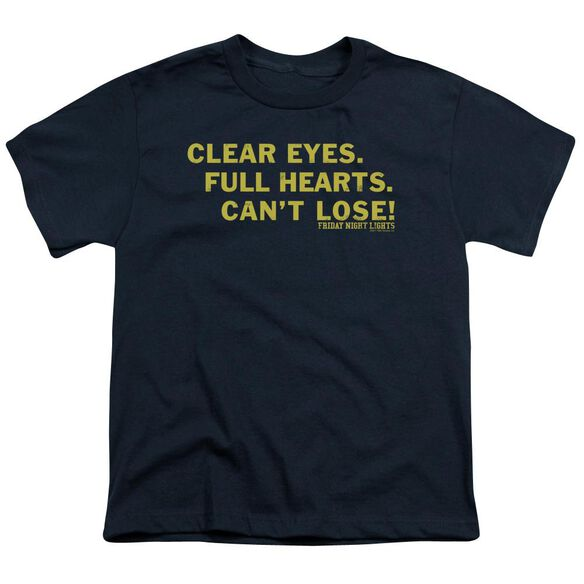 Friday Night Lights Clear Eyes Short Sleeve Youth T-Shirt
