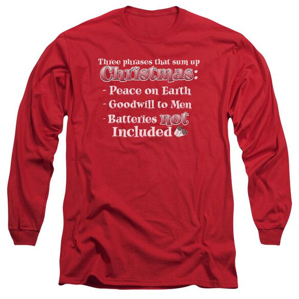 Three Phrases Long Sleeve Adult T-Shirt