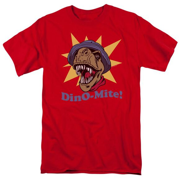 Dino Mite Short Sleeve Adult Red T-Shirt
