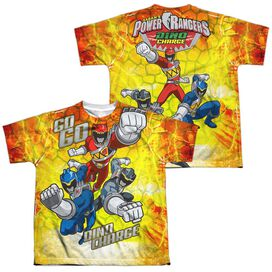 Power Rangers Go Go Dino Charge (Front Back Print) Short Sleeve Youth Poly Crew T-Shirt