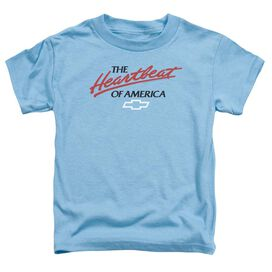 Chevrolet Heartbeat Of America Short Sleeve Toddler Tee Carolina Blue T-Shirt