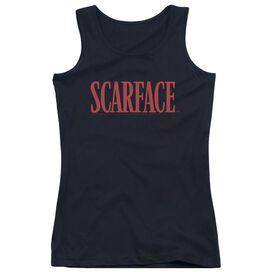 Scarface Logo - Juniors Tank Top - Black