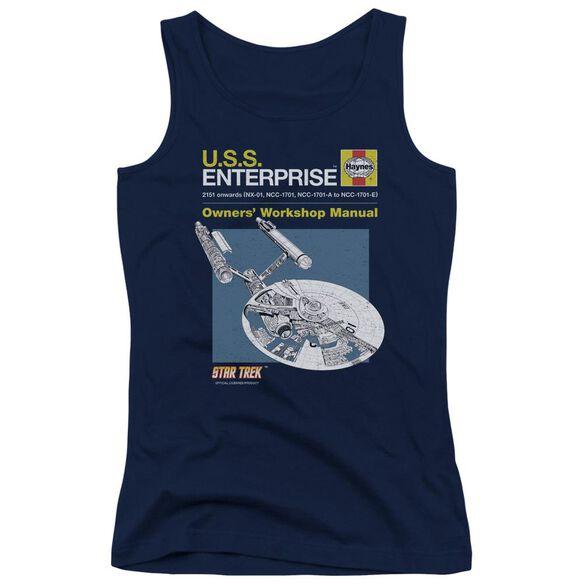 Star Trek Enterprise Manual Juniors Tank Top