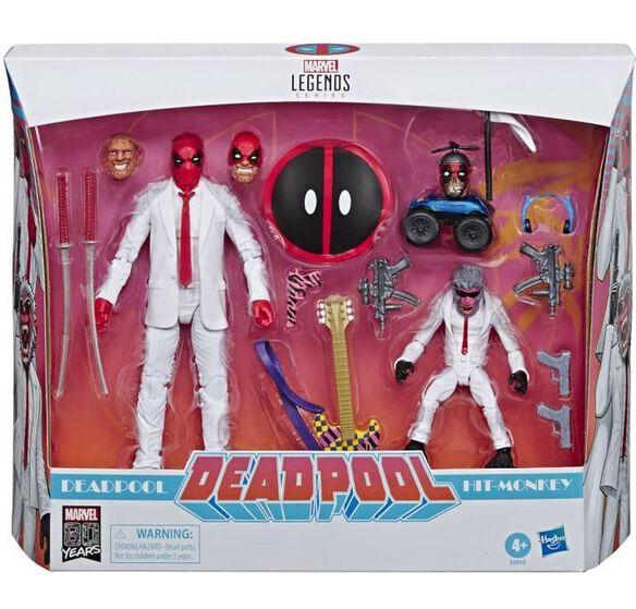 Marvel Legends Series 80th Anniversary Deadpool & Hit-Monkey Action Figure [2-pack]