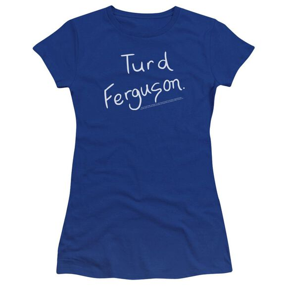 Snl Turd Ferguson Premium Bella Junior Sheer Jersey Royal