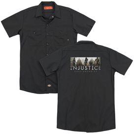Injustice Gods Among Us Logo (Back Print) Adult Work Shirt