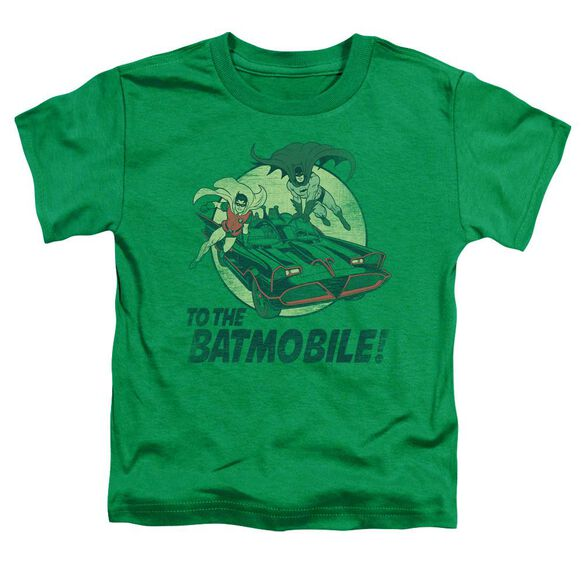 Batman Classic Tv To The Batmobile Short Sleeve Toddler Tee Kelly Green T-Shirt