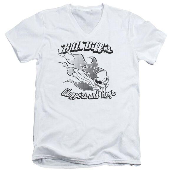 B.A.BIFFS - ADULT V-NECK - WHITE T-Shirt