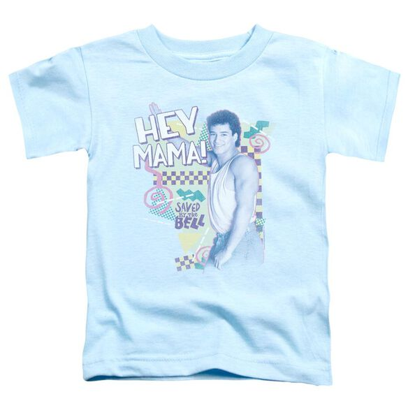 Saved By The Bell Hey Mama Short Sleeve Toddler Tee Light Blue T-Shirt