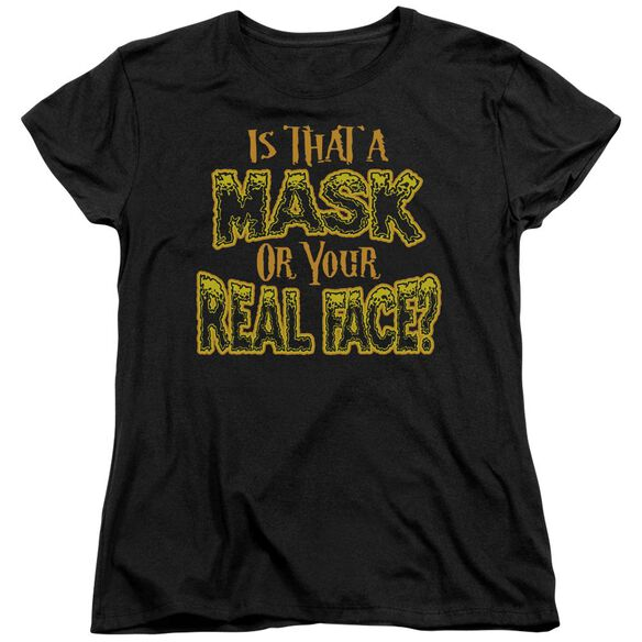 Mask Short Sleeve Womens Tee T-Shirt