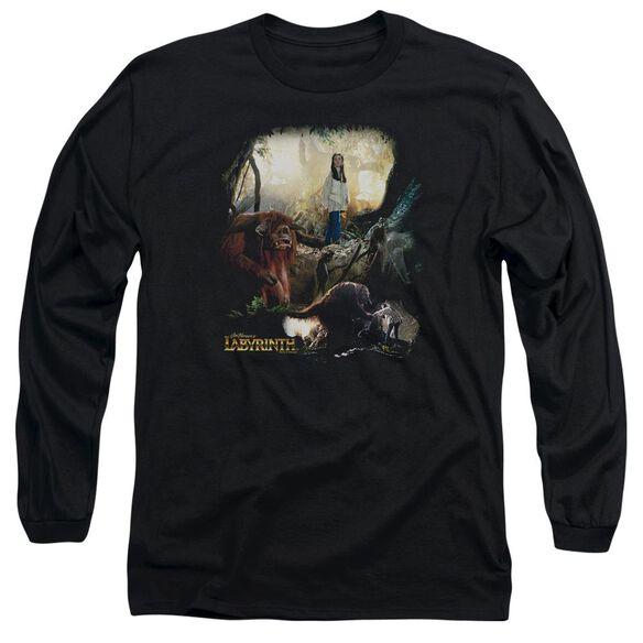 Labyrinth Sarah & Ludo Long Sleeve Adult T-Shirt