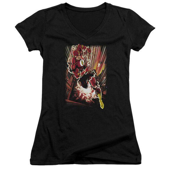 Jla Street Speed Junior V Neck T-Shirt
