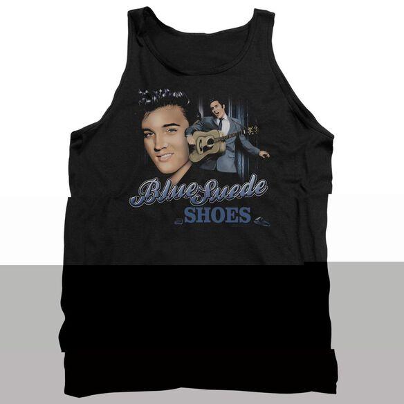 Elvis Presley Blue Suede Shoes - Adult Tank - Black