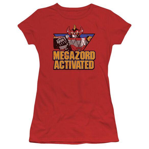 Power Rangers Megazord Activated Short Sleeve Junior Sheer T-Shirt
