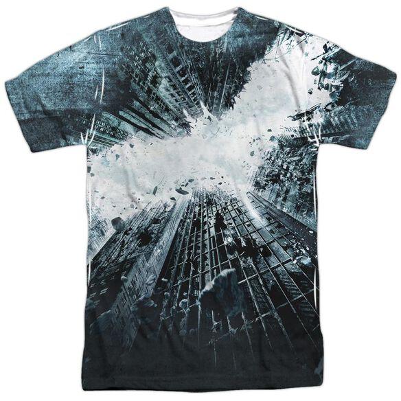Dark Knight Rises Big Poster Short Sleeve Adult Poly Crew T-Shirt