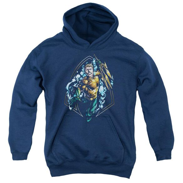 Jla Thrashing Youth Pull Over Hoodie