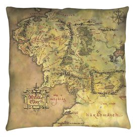 Lord Of The Rings Middle Earth Map Throw