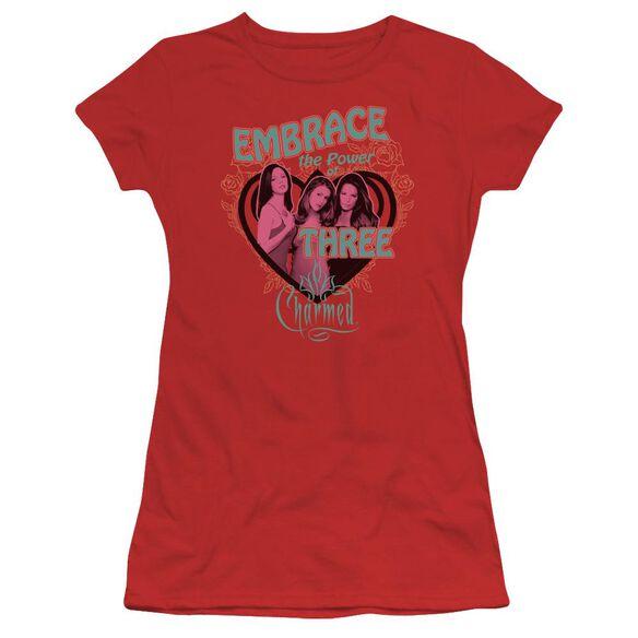 Charmed Embrace The Power Short Sleeve Junior Sheer T-Shirt