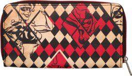 Harley Quinn Diamonds Zipper Clutch Wallet