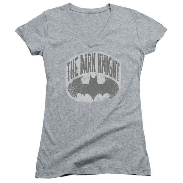 Batman Dark Knight Shield Junior V Neck Athletic T-Shirt
