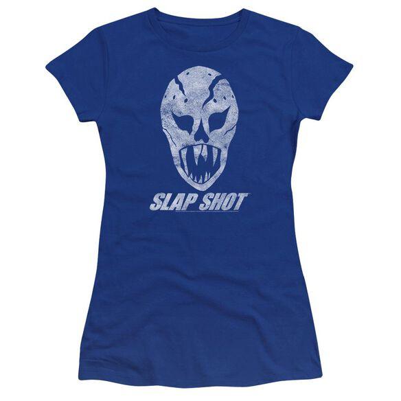Slap Shot The Mask Premium Bella Junior Sheer Jersey Royal