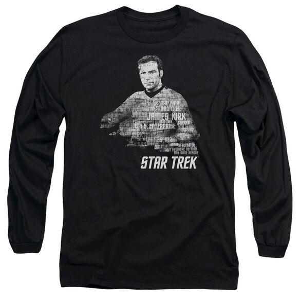 Star Trek Kirk Words Long Sleeve Adult T-Shirt