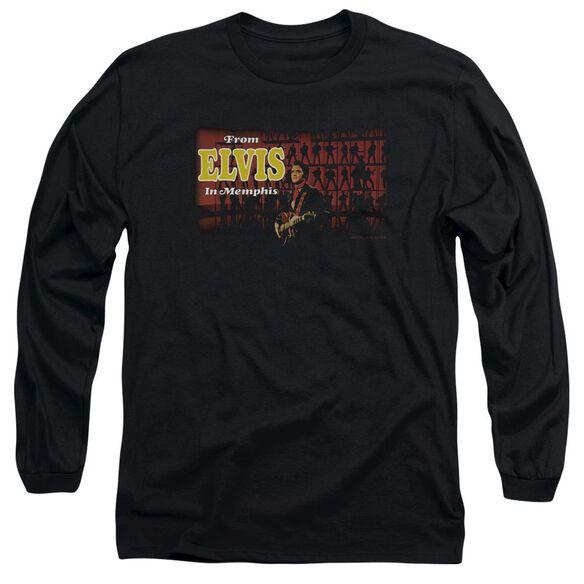 Elvis From Elvis In Memphis Long Sleeve Adult T-Shirt