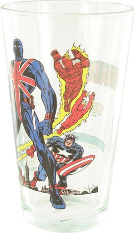 Invaders Union Jack Cover Pint Glass