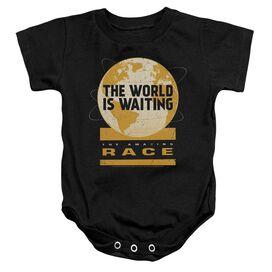Amazing Race Waiting World Infant Snapsuit Black