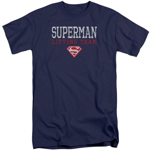 Superman Lifting Team Short Sleeve Adult Tall T-Shirt