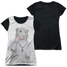 Pets Rock Church Short Sleeve Junior Poly Black Back T-Shirt