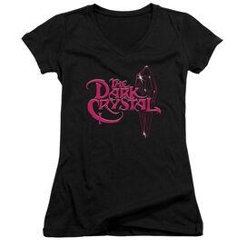 Dark Crystal Bright Logo Junior V Neck T-Shirt