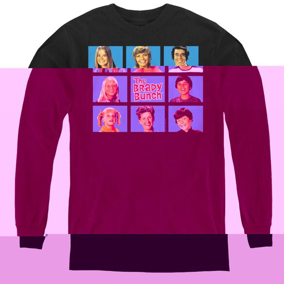 Brady Bunch Framed - Youth Long Sleeve Tee - Black