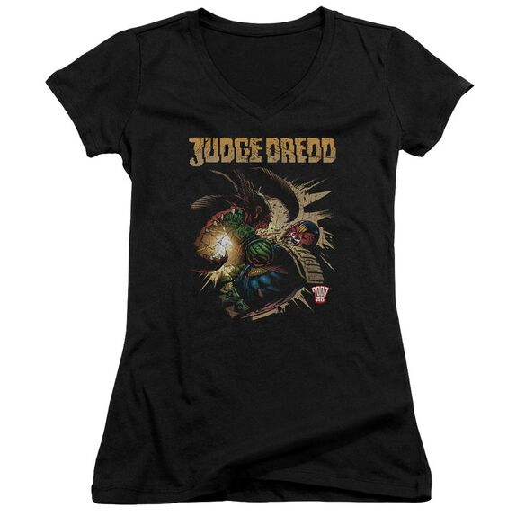 Judge Dredd Blast Away Junior V Neck T-Shirt