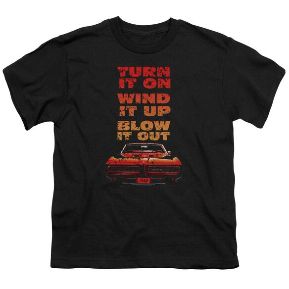 Pontiac Blow It Out Gto Short Sleeve Youth T-Shirt