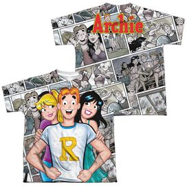 Archie Comics Archie And Gals (Front Back Print) Short Sleeve Youth Poly Crew T-Shirt