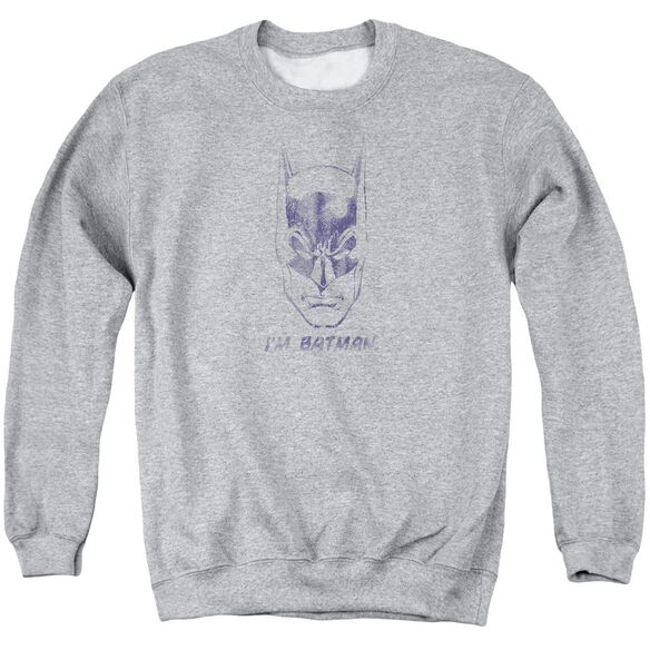 Batman I'm Batman Adult Crewneck Sweatshirt Athletic